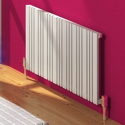 Reina Radiators Bonera Horizontal Radiator (White). 456x550mm.