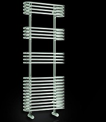 Reina Radiators Mirus Towel Radiator (Chrome). 500x1200mm.