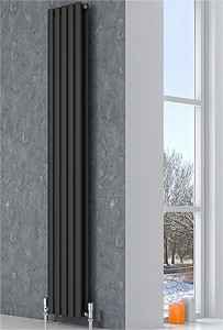 Reina Radiators Neva Vertical Double Radiator (Anthracite). 413x1500mm.