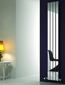 Reina Radiators Osimo Vertical Radiator (Chrome). 290x1800mm.