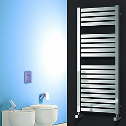 Reina Radiators Aosta Towel Radiator (Stainless Steel). 1220x530mm.