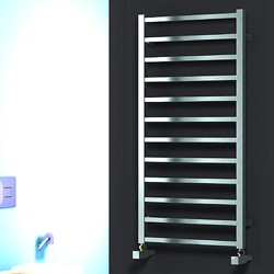 Reina Radiators Arden Towel Radiator (Satin Stainless Steel). 500x500.
