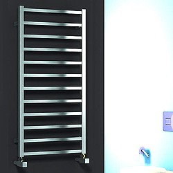 Reina Radiators Arden Towel Radiator (Polished Stainless Steel). 1000x500.