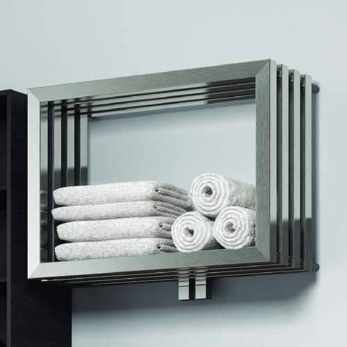 Reina Radiators Caldo Designer Towel Radiator (Stainless Steel). 500x700.