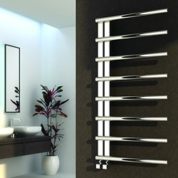 Reina Radiators Celico Towel Radiator (Stainless Steel). 1000x500mm.
