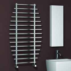 Reina Radiators Enna Towel Radiator (Satin Stainless Steel). 1200x700.