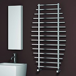 Reina Radiators Enna Towel Radiator (Polished Stainless Steel). 1200x700.