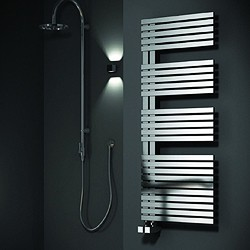 Reina Radiators Entice Towel Radiator (Stainless Steel). 1200x500mm.