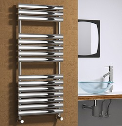 Reina Radiators Helin Towel Radiator (Stainless Steel). 1120x500mm.
