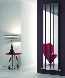 Reina Radiators Lavian Vertical Radiator (Polished Stainless Steel). 435x1800.