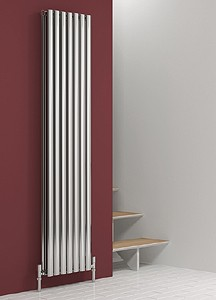 Reina Radiators Nerox Double Radiator (Polished Stainless Steel). 413x1800.