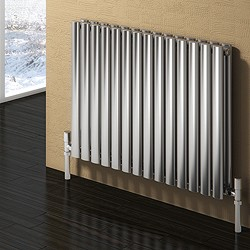 Reina Radiators Nerox Double Radiator (Brushed Stainless Steel). 1180x600.