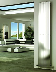 Reina Radiators Odin Vertical Radiator (Satin Stainless Steel). 230x2000.