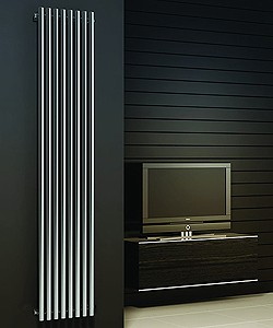 Reina Radiators Orthia Vertical Radiator (Polished Stainless Steel). 1800x390.
