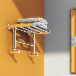 Reina Radiators Troisi Towel Radiator Shelf (Stainless Steel). 294x532.