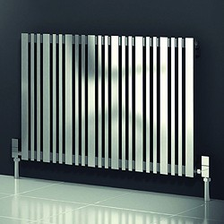 Reina Radiators Versa Radiator (Satin Stainless Steel). 540x600mm.