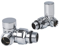 Reina Radiators Crova Corner Radiator Valves (Chrome).