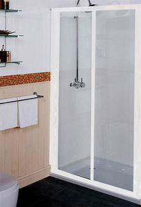 Sliding Shower Door 1200mm White Roman Collage Ro Ct1213w
