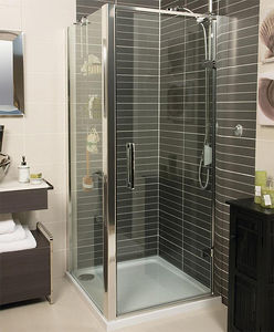Roman Embrace Shower Enclosure With Hinged Door (760x760mm, Silver).