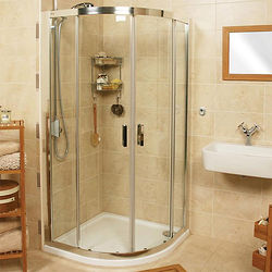 Roman Embrace Quadrant Shower Enclosure (900x900mm, Silver).