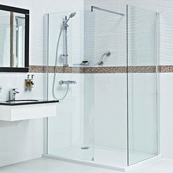 Roman Embrace Walk In Shower Enclosure With 8mm Glass (1100x800mm).