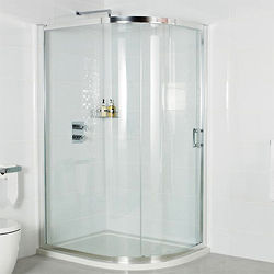 Roman Embrace Offset Quad Shower Enclosure & Sliding Door (900x1200mm).