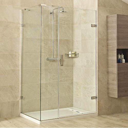 Roman Liber8 Shower Enclosure With Hinged Door (1000x800, Nickel).