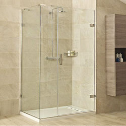 Roman Liber8 Shower Enclosure With Hinged Door (1000x900, Chrome).