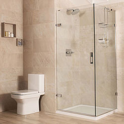 Roman Liber8 Frameless Shower Enclosure With Hinged Door (760x1000mm).
