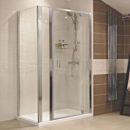 Roman Lumin8 Shower Enclosure With Pivot Door & 300 Panel (1300x900mm).