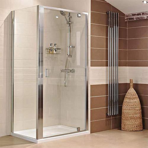 Roman Lumin8 Shower Enclosure With Pivot Door (900x900mm).