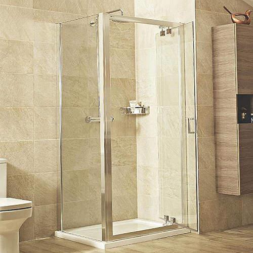 Roman Lumin8 Shower Enclosure With Inswing Door (800x800mm).