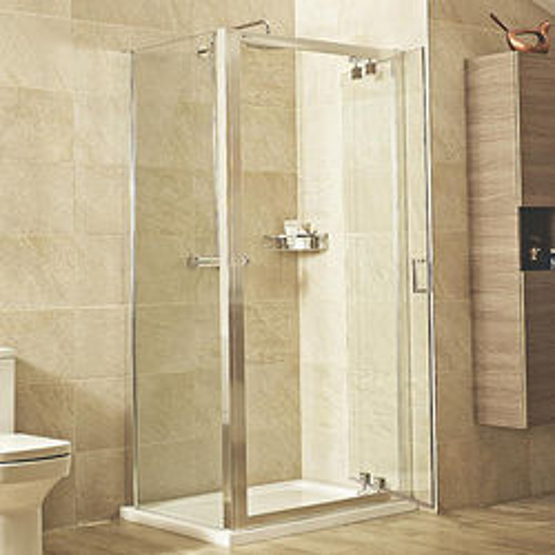 Roman Lumin8 Shower Enclosure With Inswing Door (900x900mm).