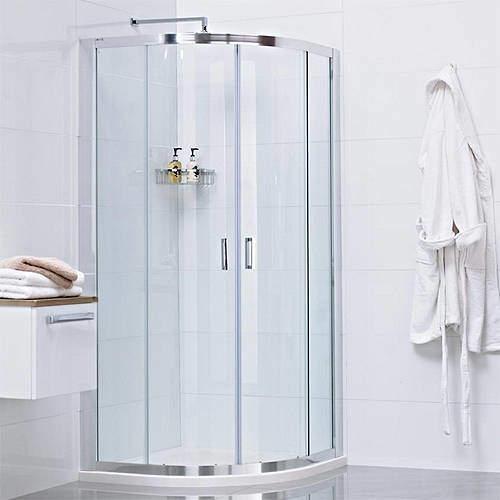 Roman Lumin8 Quadrant Shower Enclosure With 2 Doors (900x900mm).