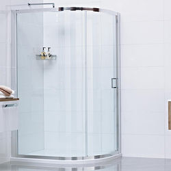 Roman Lumin8 Offset Quadrant Shower Enclosure With 1 Door (800x900mm).