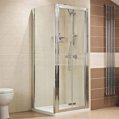 Roman Lumin8 Shower Enclosure With Bi-Fold Door (800x800mm).