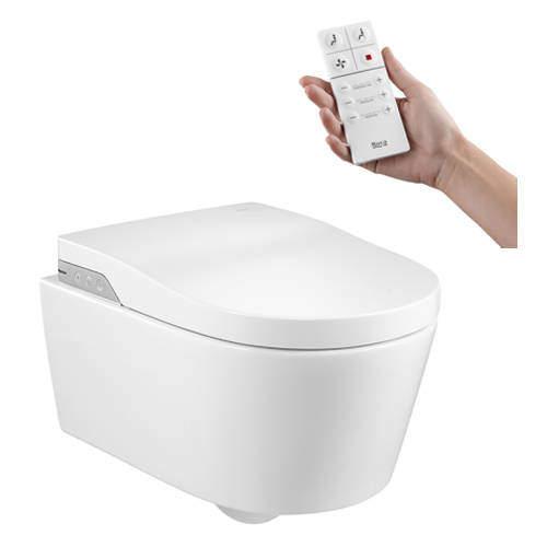 Roca Smart Toilets In-Wash Inspira Rimless Smart Wall Hung Pan.