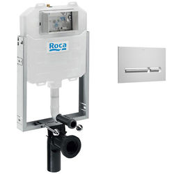 Roca Frames In-Wall WC Compact Tank & PL5 Dual Flush Panel (Grey).