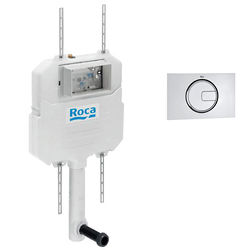 Roca Frames In-Wall Basic Compact Tank & PL4 Dual Flush Panel (Chrome).