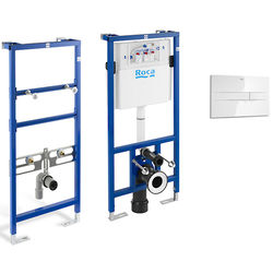 Roca Frames Basin & WC Frame With PL2 Dual Flush Panel (White).