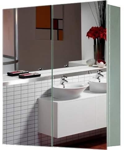 Roma Cabinets 2 Door Mirror Bathroom Cabinet. 600x670x130mm.