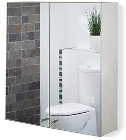 Roma Cabinets 2 Door Mirror Bathroom Cabinet. 600x670x120mm.