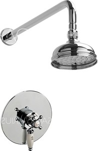 Sagittarius Butler Shower Valve With Arm & 130mm Head (Chrome).