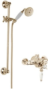 Sagittarius Churchmans Exposed Shower Valve With Slide Rail Kit (Gold).