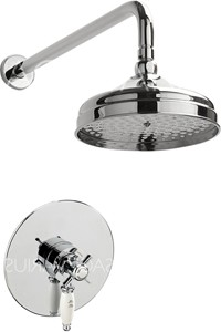 Sagittarius Churchmans Shower Valve With Arm & 200mm Head (Chrome).
