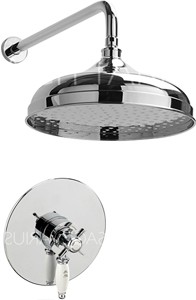 Sagittarius Churchmans Shower Valve With Arm & 300mm Head (Chrome).