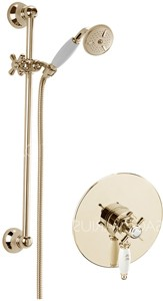Sagittarius Churchmans Concealed Shower Valve With Slide Rail Kit (Gold).