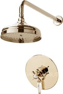 Sagittarius Churchmans Shower Valve With Arm & 200mm Head (Gold).