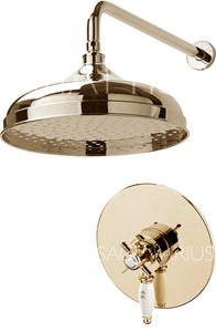 Sagittarius Churchmans Shower Valve With Arm & 300mm Head (Gold).