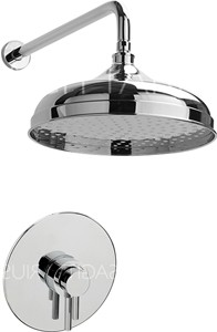 Sagittarius Ergo Shower Valve With Arm & 300mm Head (Chrome).